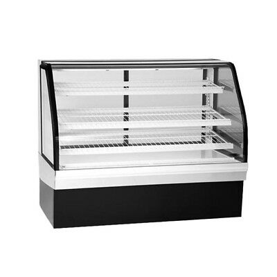 "Federal ECGD-50 50"" Non-Refrigerated Bakery Display Case Curved Glass"
