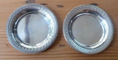 Solid Silver Coasters / Pin Trays Egyptian