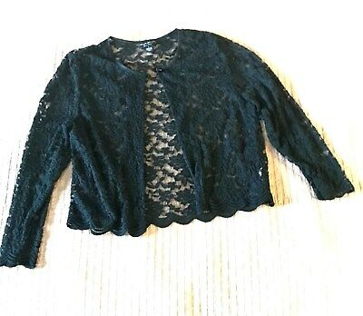Lace Bolero Jacket Cover up -  Short Black Formal Jacket -  Pretty Lace pc!