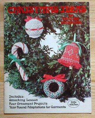 Christmas Ideas for English Smocking Smocked Ornaments Patterns Bell Wreath