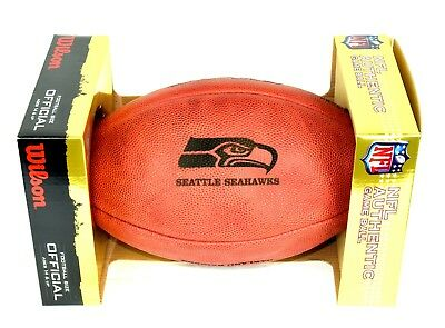 NFL Football The DUKE Seattle Seahawks Wilson offizieller Spielball full size