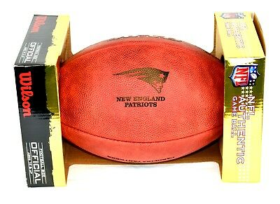 NFL Football The DUKE New England Patriots Logo Wilson offizieller Spielball
