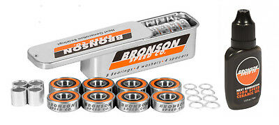 BRONSON SPEED CO G3 Skateboard BEARINGS and BRONSON HIGH SPEED CERAMIC OIL