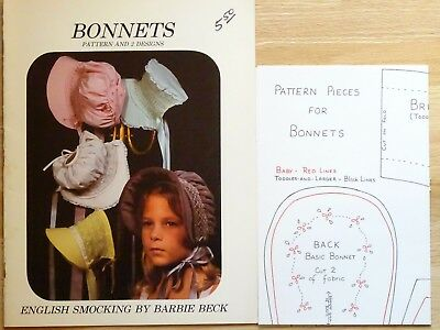 English Smocking BONNETS Barbie Beck Patterns Little House on the Prairie