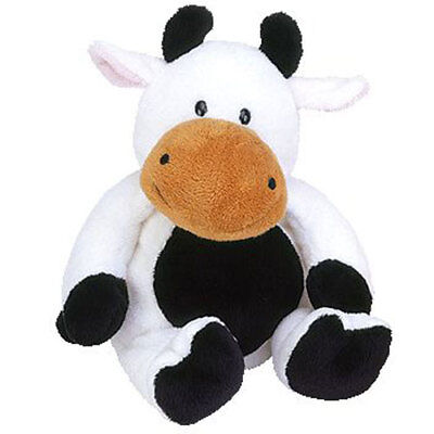 TY Pluffies - GRAZER the Cow (11 inch) - MWMTs Stuffed Animal Toy