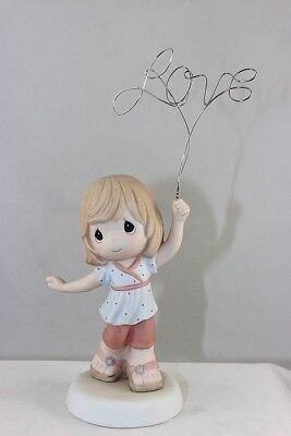 Precious Moments - Girl Holding Wire Love Sign