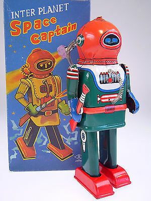 "Gsr Robot ""inter Planet Space Captain"" Tin Tom Toys,neu / New / Neuf In Box !"