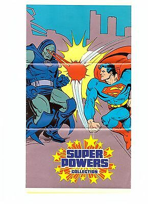 "GSCOM GSK KATALOG FALTBLATT POSTER "" SUPER POWERS COLLECTION"" 28x45cm, VERY GOOD"