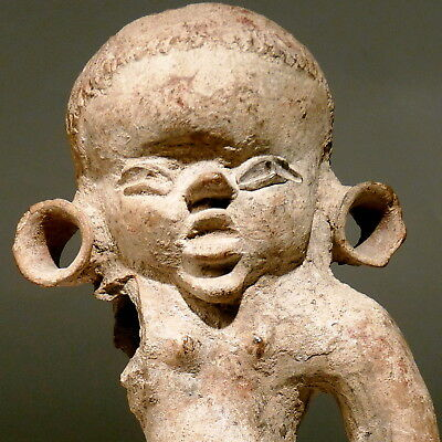 OLMEC Pre Columbian Pottery Youth Infant Figure 550 BC LARGE 7 in. 17½cm Mexico