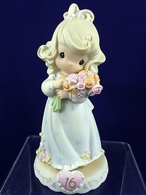 Precious Moments - Growing in Grace Age 16 Figurine - Girl with Flowers 136263