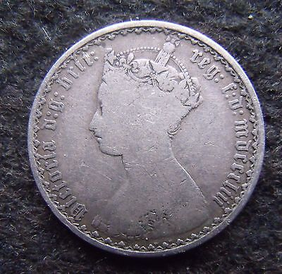 """1853 Florin """"Gothic"""" Two Shilling coins Victoria british One tenth of a pound"""