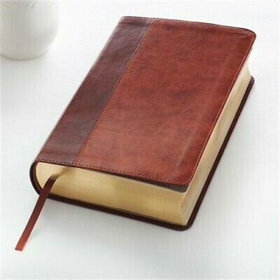 KJV Giant Print Lux-Leather 2-Tone Brown (Leather / Fine Binding)