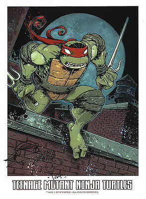 Eric Talbot SIGNED Teenage Mutant Ninja Turtles Comic Art Print Original Sketh