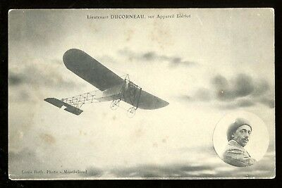 c 1909 France Pioneer Aviation LOUIS BLERIOT Aeroplane Airplane Postcard