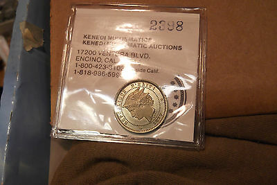 1877 HAITI KM Pn80 PROOF ESSAI 20 CENTIMES, NICKEL