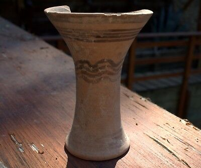 1500 BC Artifact Painted Pottery Chalice Goblet From Bronze Age Time Of Moses!
