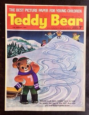 Teddy Bear Comic 17 January 1978. Christmas Cover. Nr Mint. Puzzles Not Done.