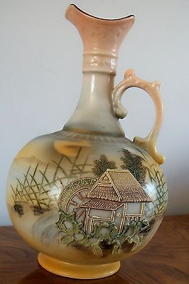Vintage Nippon Ewer Pitcher with Moriage Accents. Excellent condition