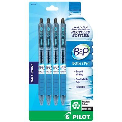 Pilot B2P - Bottle to Pen - Retractable Ball Point Pens Made from Recycled