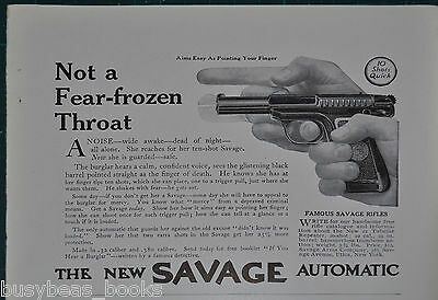 1914 SAVAGE PISTOL advertisement, hand-held pistol for the Wife 10-shou auto.