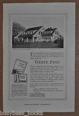 1916 WHITE PINE BUREAU advertisement, Joseph Lincoln house, Hackensack NJ
