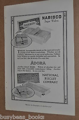 1914 Nabisco advertisement, National Biscuit Co., Sugar Wafers & Adora cookies