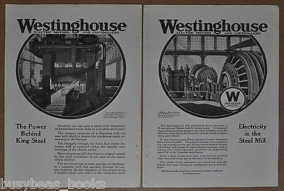 1917 Westinghouse 2-page advertisement, Central Steel Co, Blooming Mill