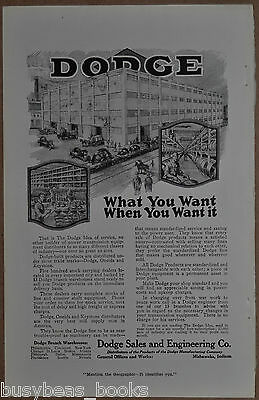 1919 DODGE advertisement, Factory Drive Belts Pulleys Shafts etc