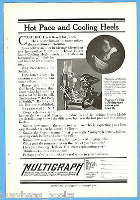 1917 MULTIGRAPH advertisement, Multigraph Senior printer, duplicator