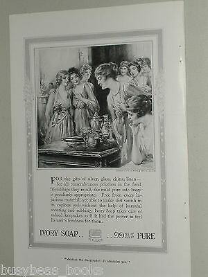 1918 Ivory Soap advertisement, Bridal shower, cleaning silver etc