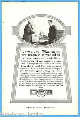 1917 MIMEOGRAPH advertisement, A. B. DICK, Edison mimeograph