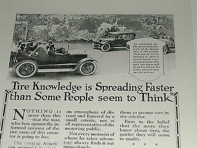 1920 United States Tires advertisement page, US Rubber Co., U S Tires, old autos