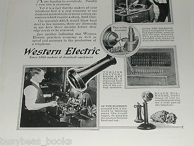 1923 Western Electric advertisement, candlestick telephone making