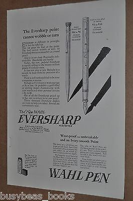 1925 Wahl advertisement for Eversharp Pencil and Fountain pen