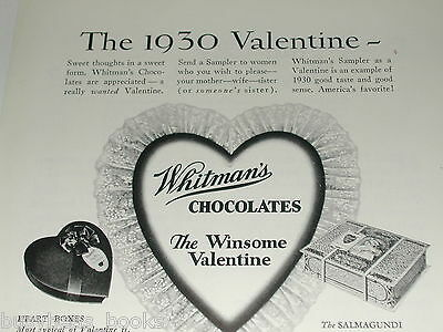 1930 WHITMANS Chocolate advertisement, Valentines Day gift box