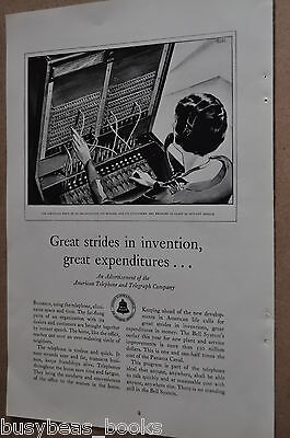 1929 Bell Telephone advertisement, AT&T, Switchboard operator