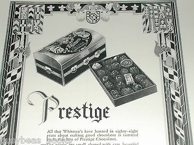 1930 Whitmans ad, Whitman Chocolate, Prestige tin