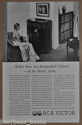 1935 RCA VICTOR advertisement, Phonograph & Record cabinets