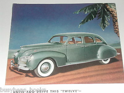 1939 Lincoln ad, Lincoln Zephyr, color photo