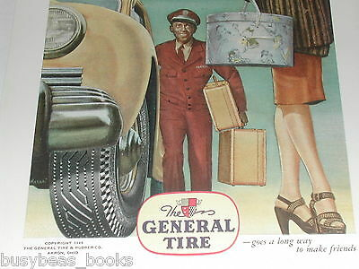 1946 General Tire advertisement, Black Porter carrying suitcases