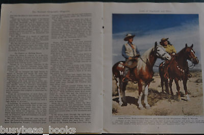 1946 magazine article about NEVADA, people, history, mining etc color photos