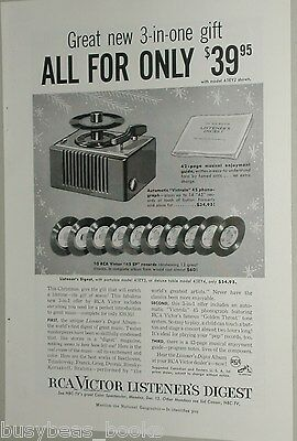 1954 RCA advertisement, Radio Corp of America, 45 RPM records & player deal