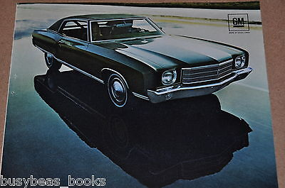 1970 Chevrolet MONTE CARLO advertisement, CHEVY Monte Carlo with reflection