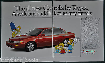 1993 TOYOTA COROLLA 2-page advertisement, With The SIMPSONS, Canadian advert