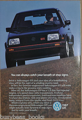 1987 VOLKSWAGEN GTI advertisement, VW GTI, black with red trim