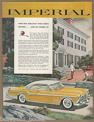 1955 CHRYSLER IMPERIAL advertisement, yellow & white hardtop coupe
