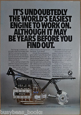 1985 BMW MOTORCYCLE advertisement, BMW K-series, frame & engine photo