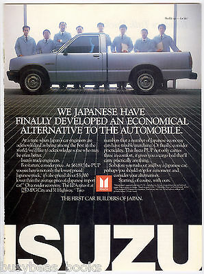 1986 ISUZU Pickup advertisement, Isuzu P'UP pickup truck
