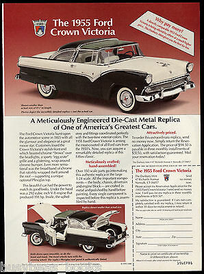1994 DANBURY MINT advertisement for 1955 Ford Crown Victoria model