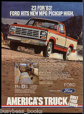 1983 FORD PICKUP advertisement, Ford Pick-up Truck